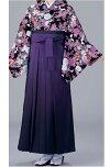 女子袴、卒業袴、卒業式、入学式、女袴、ぼかし、紫色S、M、L、LLサイズ、特長サイズあります。シックな紫ぼかし