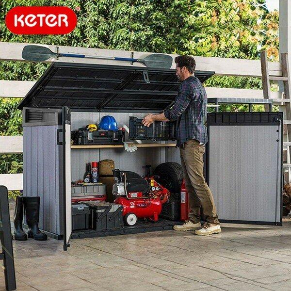 先行 10月中旬頃 予定物置keterケターグランドストアKETERGrandeStoreShed 大型Y 代引不可/ケターケー