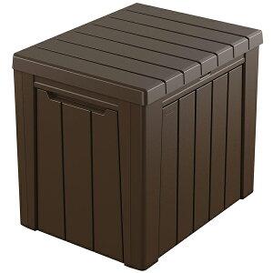 ケターアウトドア収納ボックスアーバンボックス113LKeterUrbanBox113literブラウン物置収納庫ガーデンファニチャーテーブルチェア収納家具ベランダ屋外家具室内兼用庭