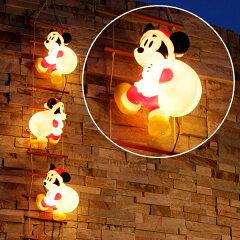 サンタの姿ではしごを登る可愛いミッキーのモチーフライト【LEDイルミネーションライト】【あす...