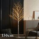ブランチツリー LED シラカバツリーライト 150cm クリスマスツリー おしゃれ イルミネーション LED 枝ツリー 木 北欧風 クリスマス インテリア スリムツリー 室内 装飾 あす楽対応・・・