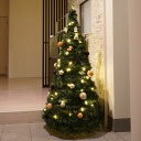 クリスマスツリー アコーディオンツリー150cmサイズ ヌードツリー イルミネーション付き 折り畳み式 フォールディング ポップアップ インテリア おしゃれ コンパクト 収納便利 あす楽 土曜営業 RCP
