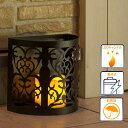 電池式メタルランタンライトSブラック/インテリアライト/ガーデンライト/LEDライト/LEDキャンドルライト/イルミネーション/ハロウィン/クリスマス/RCP