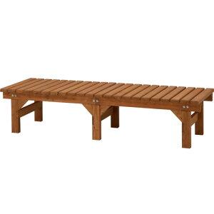 庭でくつろぐ木製縁側。ウッドデッキの暖かみを我が家で再現!/木製縁側/DX縁台 180×58(ナチ...