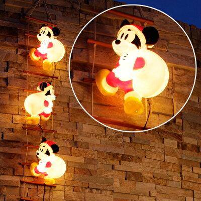 【43%OFF】はしごを登る可愛いミッキーのモチーフライト【LEDイルミネーション/3Dモチーフライ...