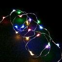 室内用LEDジュエリーライト/ジュエリーライト7色ミックス20球 電池式(タイマー付)/イルミネーション/デコレーション/室内用/クリスマス/コロナ産業/RCP