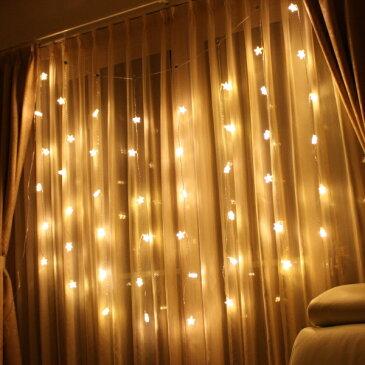 LEDインテリアイルミネーション/ベリーライト カーテン 48球 スター/LEDゴールド/室内イルミネーション/クリスマス/LEDイルミネーション/タカショー/日亜化学工業製LED/RCP/05P03Dec16/【HLS_DU】