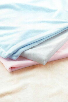 シール織シルク混綿毛布