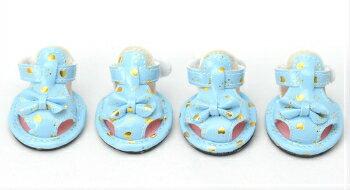【犬 靴】 【春 夏】 リボン ハート サンダル 4点セット ドッグシューズ 【トイプードル/チワワ/ヨークシャテリア/Mダックスなどの小型犬・猫用 ペットサンダル】