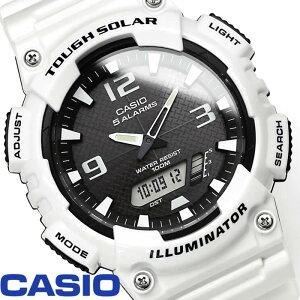 カシオ スタンダード 腕時計 アナデジ CASIO カシオスタンダード メンズ AQ-S810WC-7A タフソーラー ウレタンバンド スポーツウォッチ 海外モデル 激安 ホワイト ブラック watch tokei udedokei とけい うでどけい 特価 セール