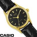 【あす楽】チプカシ 腕時計 アナログ CASIO カシオ チープカシオ レディース LTP-1094Q-1A 革ベルト 激安 ブランド オフィス ラウンドフェイス きれいめ レザー 人気 プレゼント WATCH うでどけい とけい TOKEI