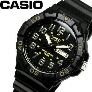 【カシオ】 【CASIO】 ダイバールック DIVER LOOK クオーツ メンズ 腕時計 ブラック ゴールド MRW-210H-1A2 ラッピング無料可能 おすすめ 安い 激安 SNS インスタ 景品 プレゼント カジュアル スポーツ アウトドア