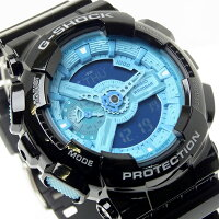 【送料無料】G-SHOCKカシオ腕時計CASIOGショックGA-110B-1A2DRハイパーカラーズHYPERCOLORSメンズウォッチアナデジコンビネーションブラック×ブルーWATCHMENS
