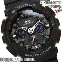 【送料無料】G-SHOCKカシオ腕時計CASIOGショックメンズアナデジGA-120-1Aコンビネーションブラック黒レッド赤プレゼントギフト人気特価セールWATCHうでどけいとけい【腕時計】【メンズ】【CASIO/G-SHOCK】
