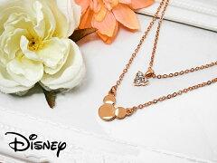 Disney ディズニー 生誕80周年記念 2連 ミッキー ネックレス スワロフスキー ペンダント アクセ...