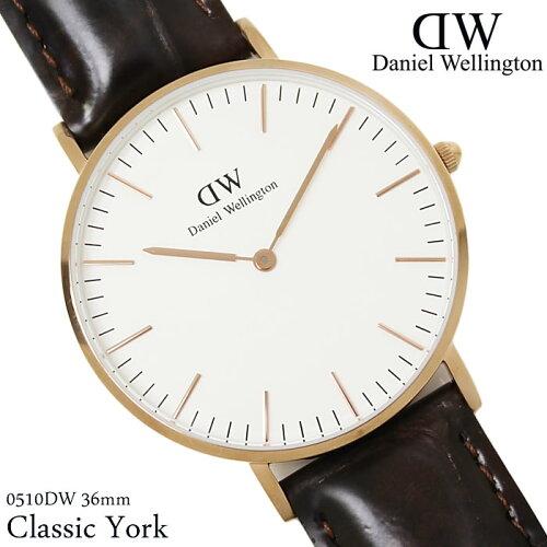 ダニエルウェリントン 腕時計 ユニセックス 36mm Classic ローズゴールド 本革ベルト ...