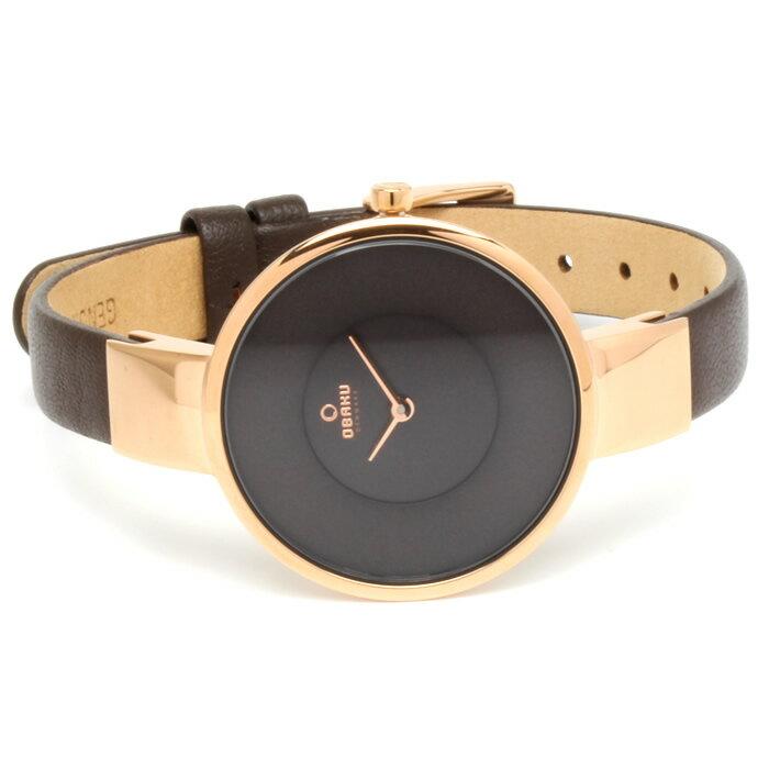 OBAKU オバック おしゃれ 美しい 腕時計 レディース アナログ レザーベルト 32mm V149LXVNRN プレゼント ラッピング無料可能 人気 おすすめ 激安 ホワイトデー きれい ウォッチ 大人 エレガント オフィス かわいい モテ