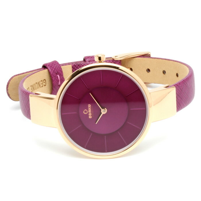 OBAKU オバック おしゃれ 美しい 腕時計 レディース アナログ レザーベルト 32mm V149LXVQRD プレゼント ラッピング無料可能 人気 おすすめ 激安 ホワイトデー きれい ウォッチ 大人 エレガント オフィス かわいい モテ