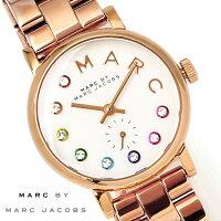 【送料無料】マークバイマークジェイコブス腕時計ベイカーグリッツレディースMBM3443マルチカラー激安スモールセコンドブレスMarcbyMarcJacobsBakerGLITZローズゴールド時計とけいうでどけいwatchtokeiudedokeiブランド