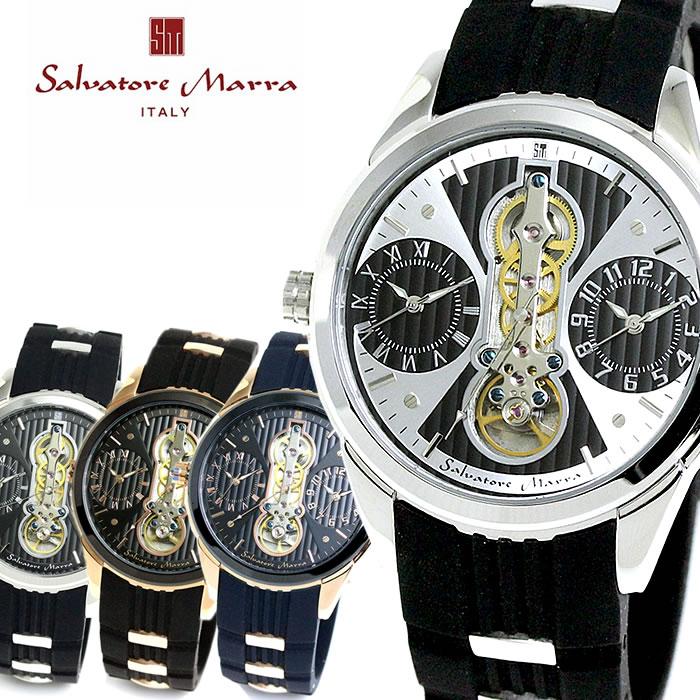 Salvatore Marra サルバトーレマーラ SM18113 デュアルタイム ビッグフェイス メンズ 腕時計 バレンタイン プレゼント ラッピング無料可能 大人 かっこいい SNS インスタ モテ オフィス カジュアル