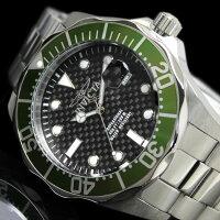 【送料無料】腕時計メンズダイバーズウォッチINVICTAインビクタ12564時計防水プロダイバーブランドグリーンブラック緑黒シルバー人気プレゼントギフト激安うでどけいとけいWATCH【腕時計】【メンズ】【ブランド】