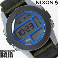 【送料無料】ニクソンTHEBAJAA4891376NIXON腕時計メンズバハブランドナイロンベルトブラック黒時計カーキグレーブルー金属アレルギー対応プレゼントギフト人気特価激安WATCHうでどけい【腕時計】【ニクソン/NIXON】