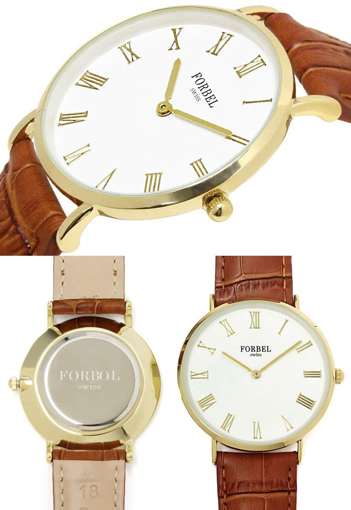 ペアウォッチ 腕時計 ペア腕時計 薄型 時計 ゴールド 革ベルト キャメル ブランド 激安 シンプル 2針タイプ クロコ型押し プレゼント 記念日 watch tokei udedokei とけい うでどけい ギフト