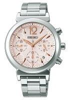 【送料無料】【取り寄せ】ルキアセイコーソーラー腕時計クロノグラフレディースLUKIASEIKOSSVS015ソーラー腕時計ブランドシルバーピンクローズゴールドシンプルオフィス人気時計プレゼントギフトうでどけい【国内正規品】