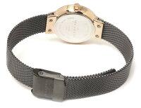 【送料無料】スカーゲンSKAGEN腕時計レディース2針456SRMメッシュベルト北欧ドレスウォッチブランド激安ラインストーン細身ブラックローズゴールドカットガラスとけいうでどけい時計watchtokeiudedokei