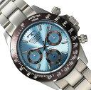 【メーカー正規品】TECHNOS テクノス 腕時計 メンズ クロノグラフ ステンレスベルト メンズクオーツ腕時計 T4251AI アイスブルー プレゼント ラッピング無料 バレンタイン 誕生日 ブランド 激安 かっこいい モテ