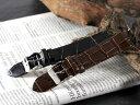 本革 腕時計バンド カーフ型押しクロコ 腕時計ベルト 腕時計用 替えベ...