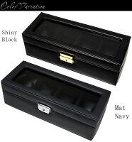 腕時計ケースコレクションケース時計コレクションボックスレザー革製合皮4本収納鍵付きウォッチボックス腕時計ボックス腕時計ケース人気プレゼントギフト特価WATCHBOXうでどけい【腕時計ボックス/腕時計ケース】