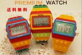 メンズ時計/レディズ時計/腕時計/LED時計/デジタルウォッチ/レゴ時計/ファション時計/カラフル/ボーイズ、ガールズ/ブロックベルト時計No2! 送料無料! 10P03Dec16