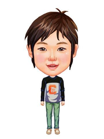 似顔絵用衣装 〜男児用衣装(グレートレーナー&緑パンツ)〜  ※ご注意:当店似顔絵のオプション商品です。衣装単体ではご注文いただけません!