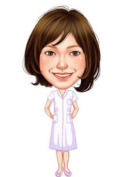 似顔絵用衣装 〜女性医療系スカート(白)〜  ※ご注意:当店似顔絵のオプション商品です。衣装単体ではご注文いただけません!