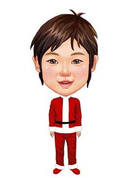 似顔絵用衣装 〜クリスマス用サンタさん(男児用)〜  ※ご注意:当店似顔絵のオプション商品です。衣装単体ではご注文いただけません!