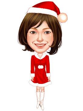 似顔絵用衣装 〜クリスマス用サンタさん(女性用)〜  ※ご注意:当店似顔絵のオプション商品です。衣装単体ではご注文いただけません!
