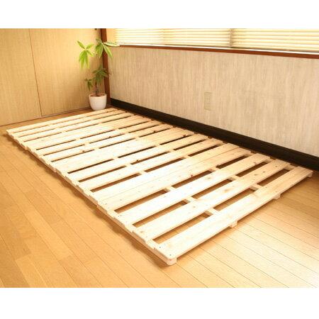 折りたたみ ひのき すのこベッド シングルベット スノコマット(シングル用 100×200cm)...
