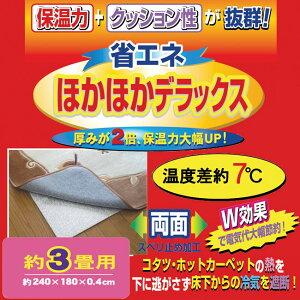 ホットカーペットの下に敷くだけで省エネ効果抜群!アルミフィルムが暖かさをはね返します。【...