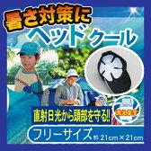【3個までメール便OK】【ユーザー】暑さ対策!帽子の内側に冷たさ実感!ヘッドクール【フリーサイズ】クールマックス 冷蔵・冷凍 丸洗いOK 【RCP】
