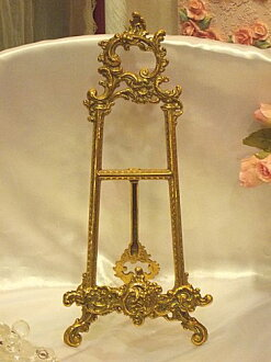 Stylish brass easel (m) size BRASS brass brass antique gold interior decoration store