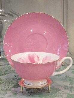 骨瓷杯 & 飛碟 (粉紅色) 05P12Oct15