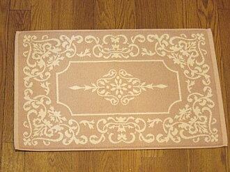 Terry cloth bath mats: Arabesque (pink Beige) rose rose rose Terry cloth bath mat cotton 100% cotton