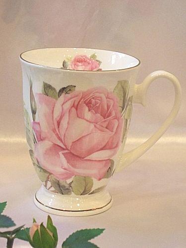 Mugs microwave response rose: ピンクローザ