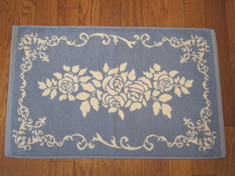 Terry cloth bath mats: elegant rose (blue) rose rose rose Terry cloth bath mat cotton 100% cotton