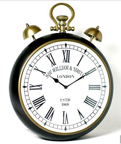 シルバークロック:ベル付き壁掛け時計時計 壁掛け シルバー 新築祝い 引越祝い 記念品 通販 おしゃれ シンプル 【HLS_DU】:ハッピーグッズコレクション