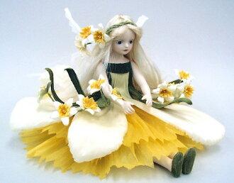 Wakatsuki 馬林兒童花仙子娃娃! elfinflory: 水仙濃湯童話花仙子娃娃禮物慶祝紀念品陶器