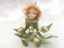 【送料無料】若月まり子お花の妖精人形♪リトルエルフィン:すずらんビスクドール妖精フラワーフェアリー陶器お人形ギフトお祝い記念品陶器【マラソン201401_送料無料】