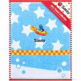 Sassy サッシー 無撚糸コットンブランケット ブルー キッズ・ベビー SA-3302BL