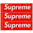 Shupreme シュプリーム Box Logo ステッカー 正規品 3枚 サイズ 5.7cm X 19cm